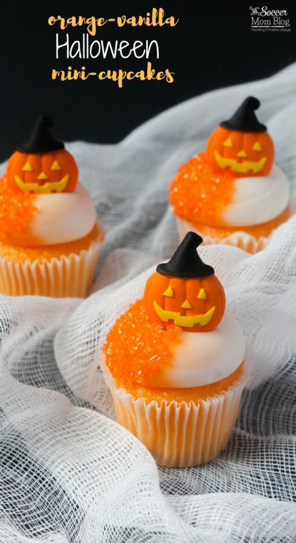 Jack - o - Lantern Mini Orange Cupcakes