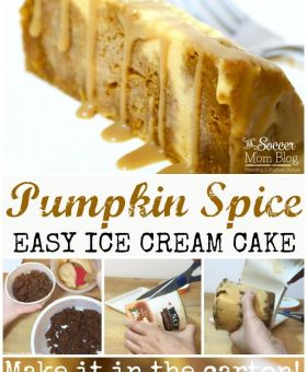 EASY Pumpkin Spice Ice Cream Cake