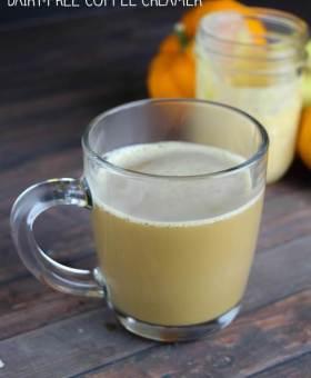 Dairy Free Pumpkin Spice Latte Coffee Creamer