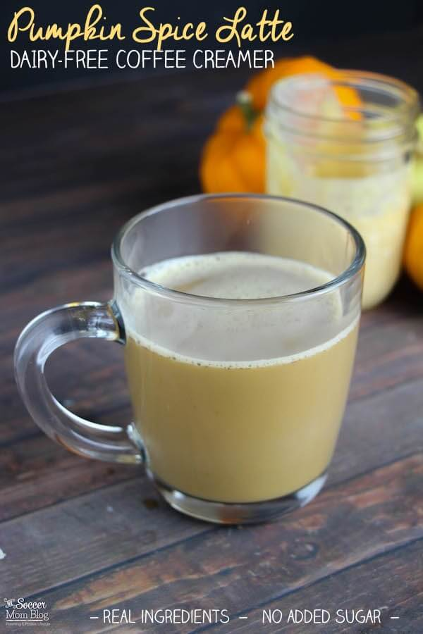 A healthy version of an all-time Fall favorite: Dairy Free Pumpkin Spice Latte made with rich coconut milk. EASY, one-step recipe!