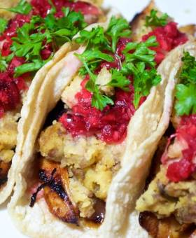 Leftover Turkey Dinner Tacos