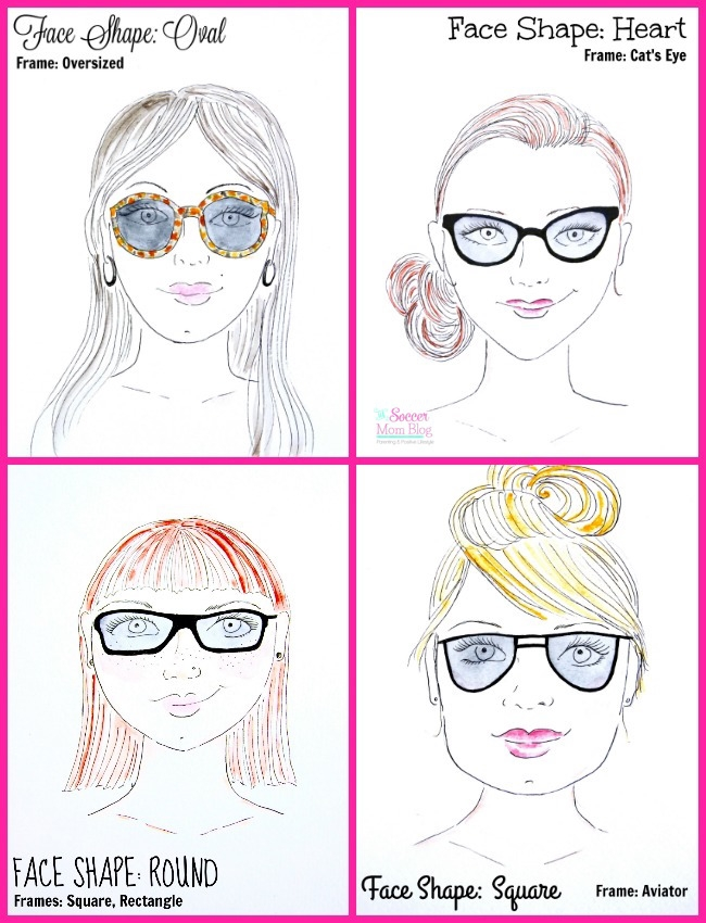 Find the best sunglasses for your face shape with this easy visual guide. 4 common facial structures and the best glasses frames to fit them.