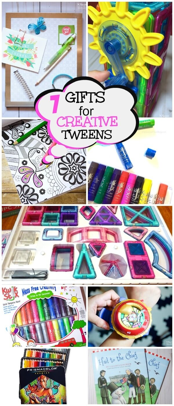 Creative tween gifts that will get them thinking, moving, building, imagining, and more! Budget-friendly toys, books, and games for kids.