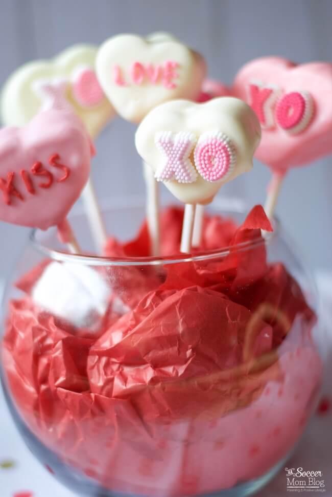 Conversation Heart Marshmallow Pops - The Soccer Mom Blog