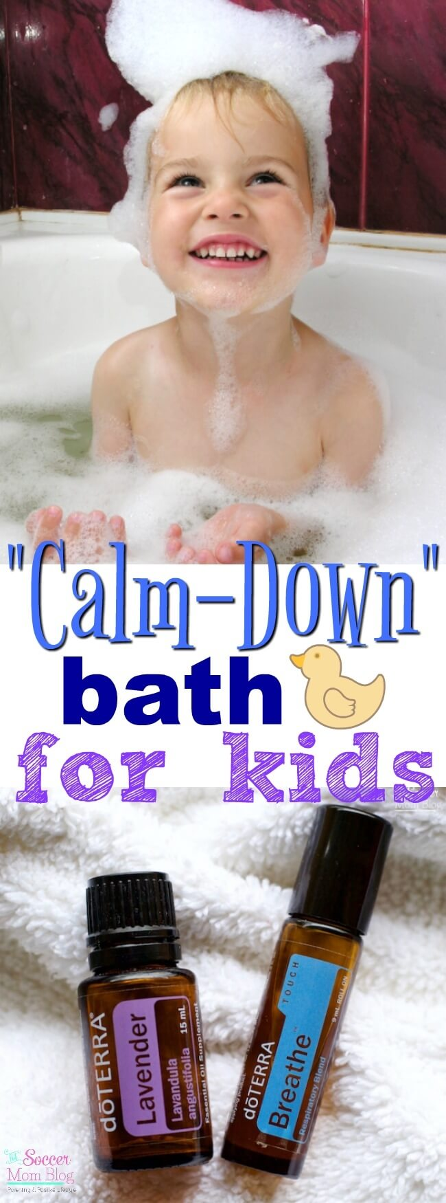 This is so simple...and it really WORKS!! A calming bath recipe that will help your kids relax before bed time and sleep better.