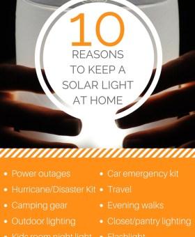 10 Handy Uses for a Solar Powered Light
