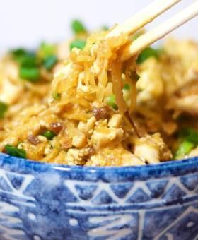 Guilt-free Spaghetti Squash Pad Thai
