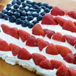 American Flag Gluten Free Fruit Pizza