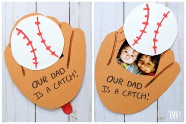 Baseball Glove Photo Pop-Up Father's Day Card (VIDEO)