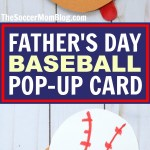 Baseball Glove Photo Pop-Up Father's Day Card