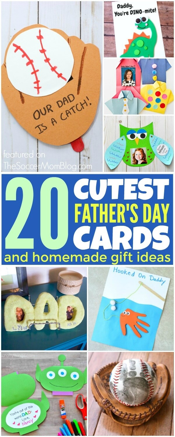 A collection of more than 20 of the cutest kid-made Father's Day Cards from top family bloggers.
