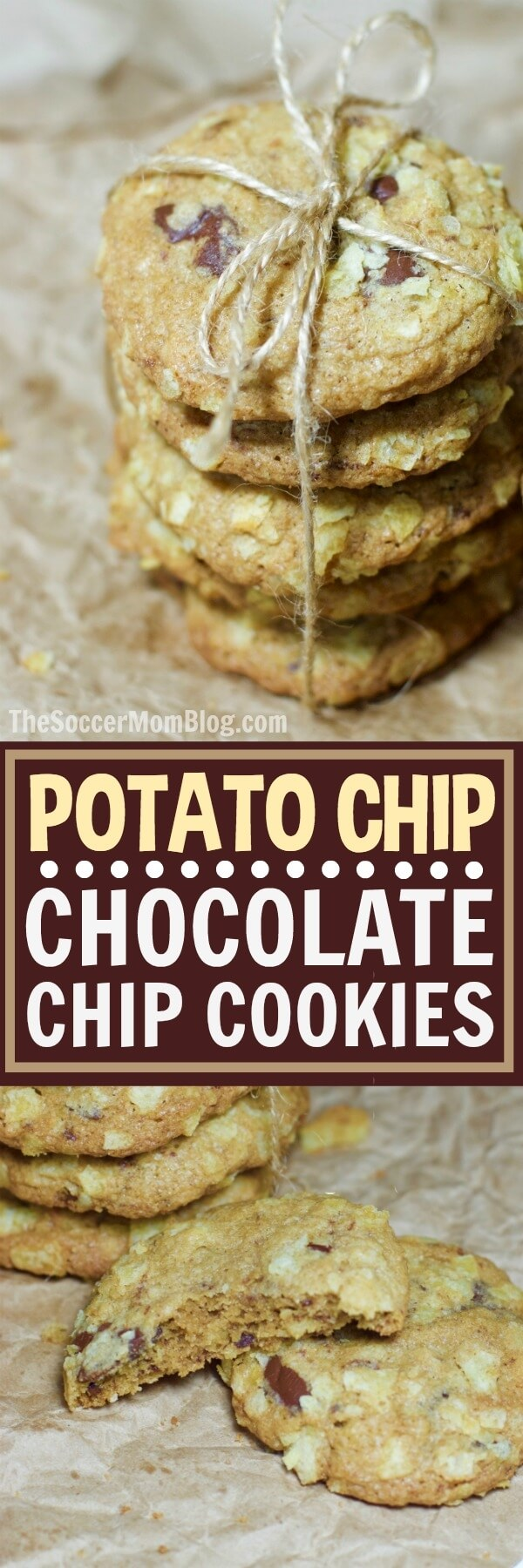 The perfect combination of sweet and salty in every bite — these Potato Chip Chocolate Chip Cookies are a WOW-worthy sweet treat for any occasion!