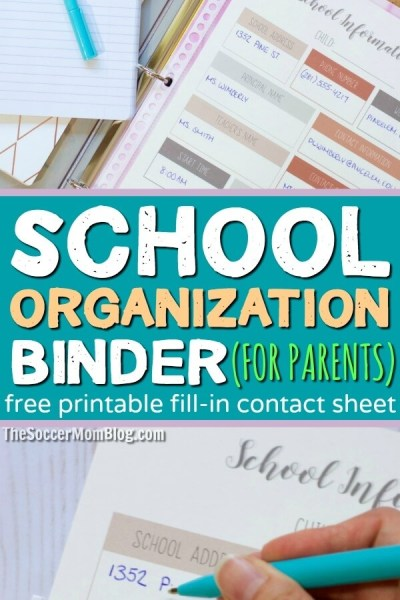 School Organization Binder for Parents (with FREE Printable!)