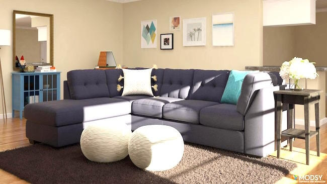 Modsy 3D Living Room Design