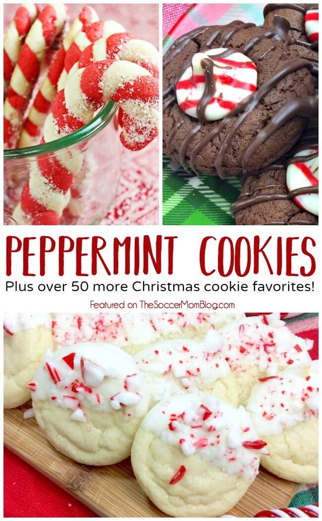 The BEST Peppermint Cookies in a HUGE collection of 50+ Christmas cookies