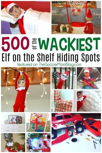 500 Most Outrageous Elf on the Shelf Hiding Spots