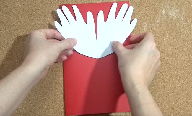 Handprint Angel Christmas Card