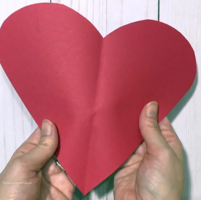 piece of my heart kid valentine card craft
