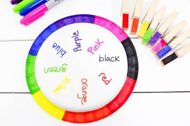 Color Wheel Educational Craft For Kids
