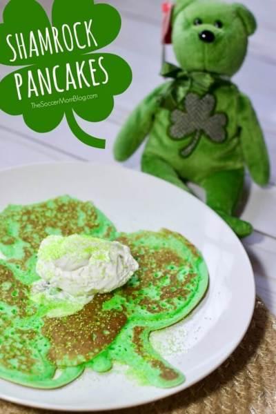 Shamrock Pancakes – St. Patrick's Day Breakfast for Kids