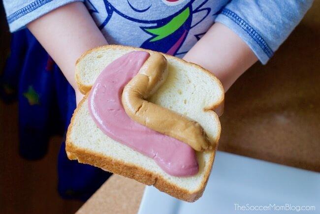 PB & J slime on bread