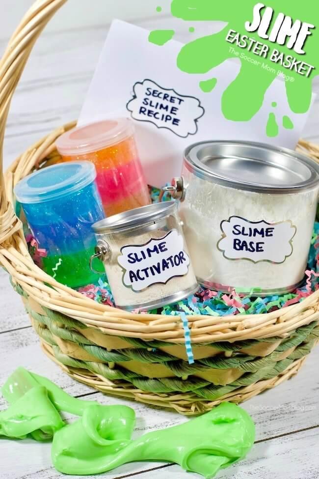 Slime easter basket for kids the soccer mom blog slime easter basket for kids negle Choice Image