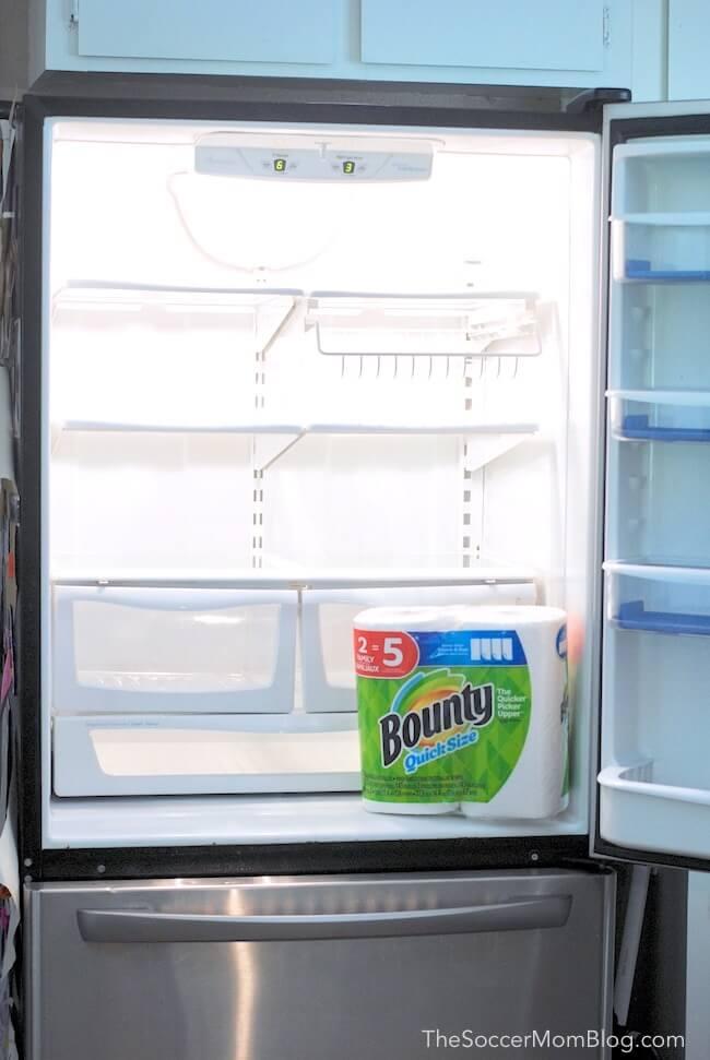 Clean empty fridge