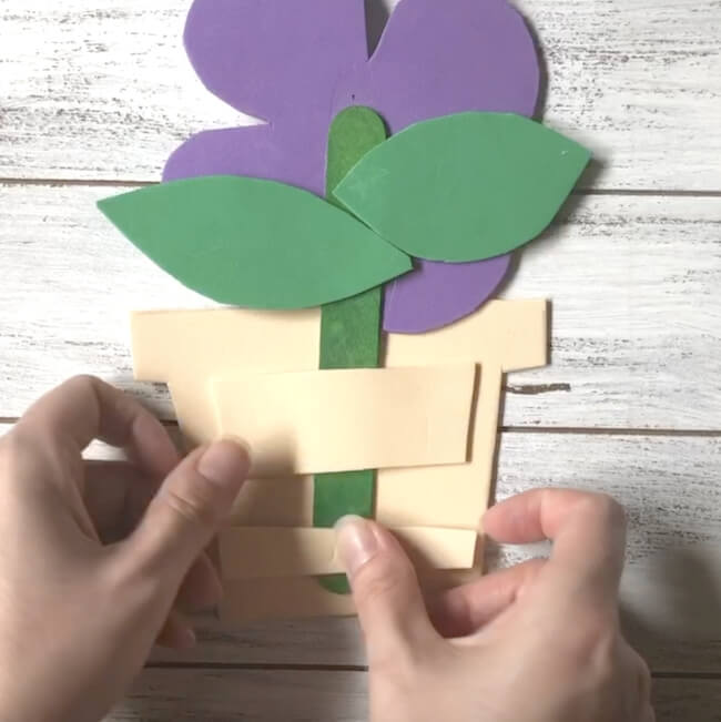 kids flower craft for mother's day