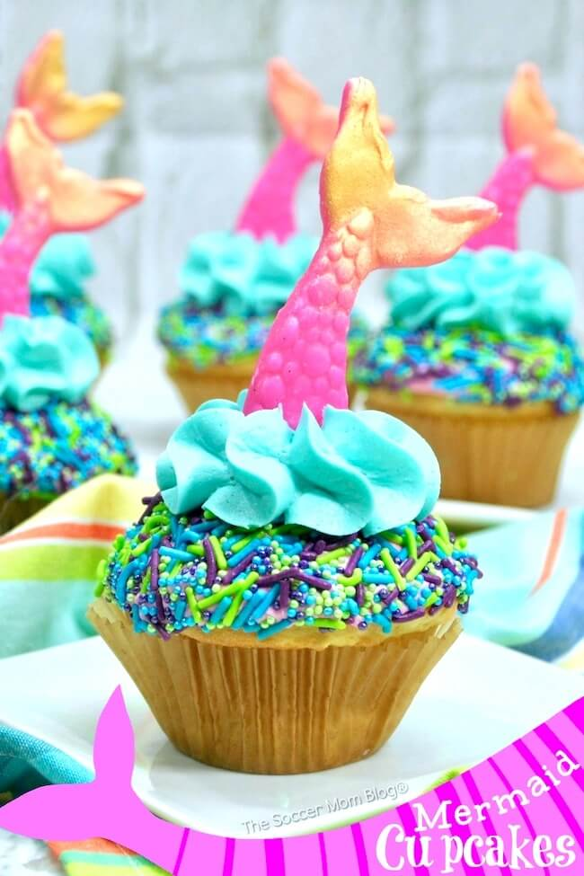 These crazy cute Mermaid Cupcakes are the viral party trend of the summer! Here's how to make them (the easy way) at home.