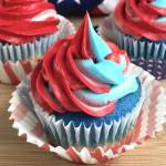 These gorgeous Red White & Blue Swirl Cupcakes are guaranteed to steal the show at your next 4th of July party!