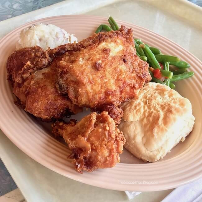 Fried chicken plate - one of the best things to eat at Disneyland