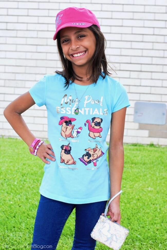 Justice girls graphic tees