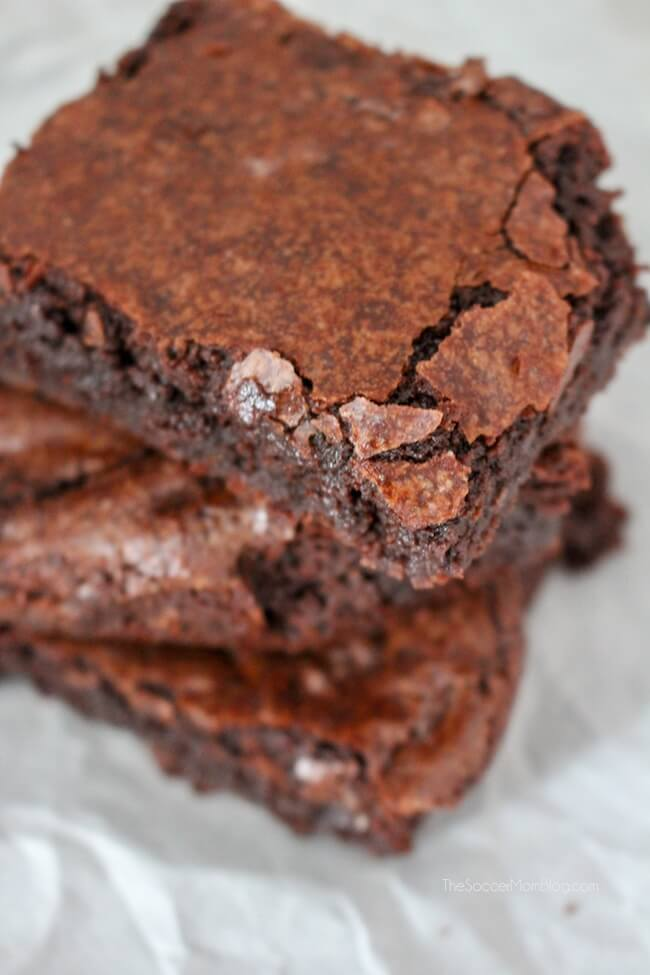These truly are absolutely perfect fudge brownies from scratch! Click for video recipe tutorial and step-by-step photo instructions.