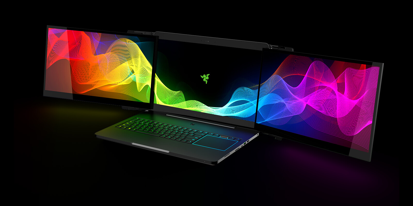 Razer Goes Rogue Once Again With A Three Screen Laptop