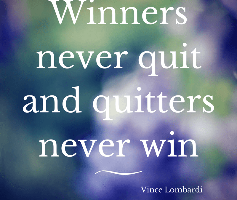 Monday Inspiration: Vince Lombardi quote