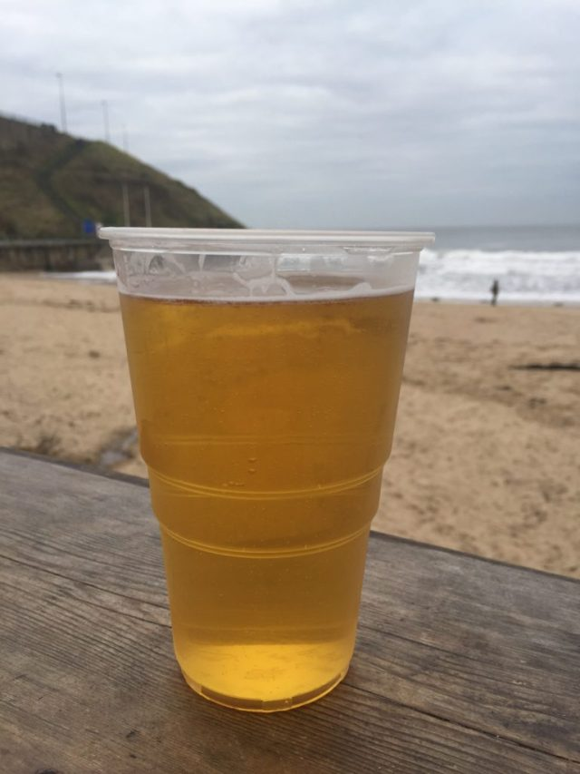 Lager on the beach at Riley's Fish Shack | The Social Media Virgin | Mature Lifestyle Blog