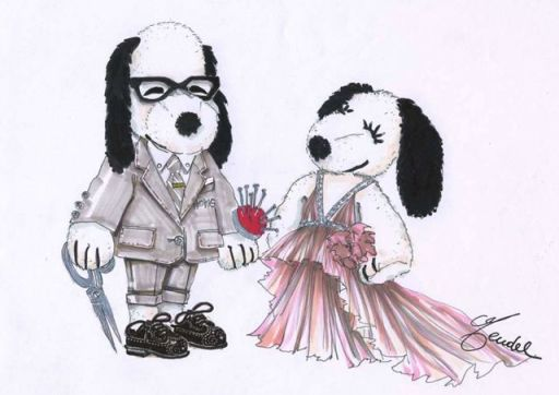 Snoopy and Belle by J.Mendel