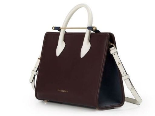 'THE STRATHBERRY MIDI' COLOURBLOCK LEATHER TOTE