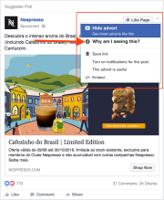 3. Click x or ˇ near the top-right corner of any ad, and select: why am I seeing this?