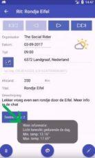 The Social Rider - Toon weer info bij rit