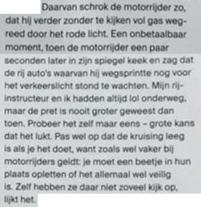 motorrijders laten schrikken