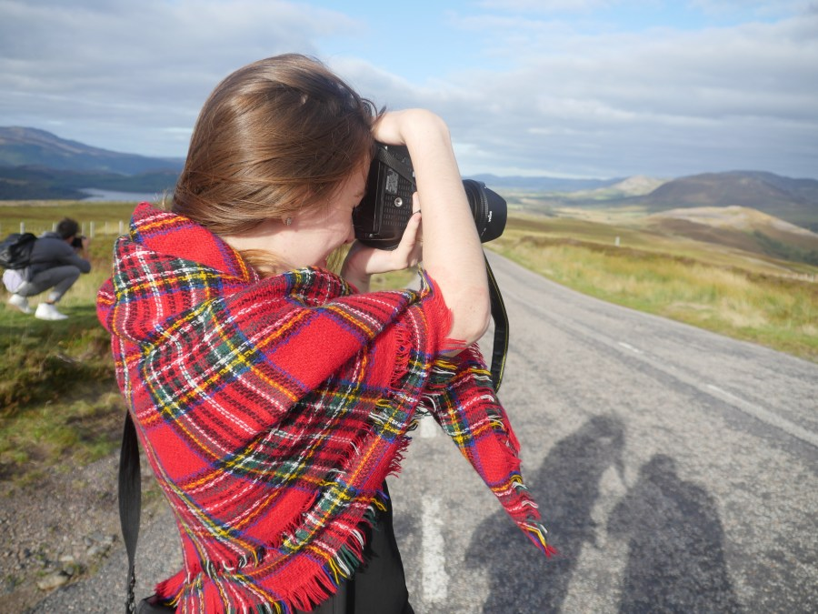 Bloggers in action during the Scenic Tour around Inverness.