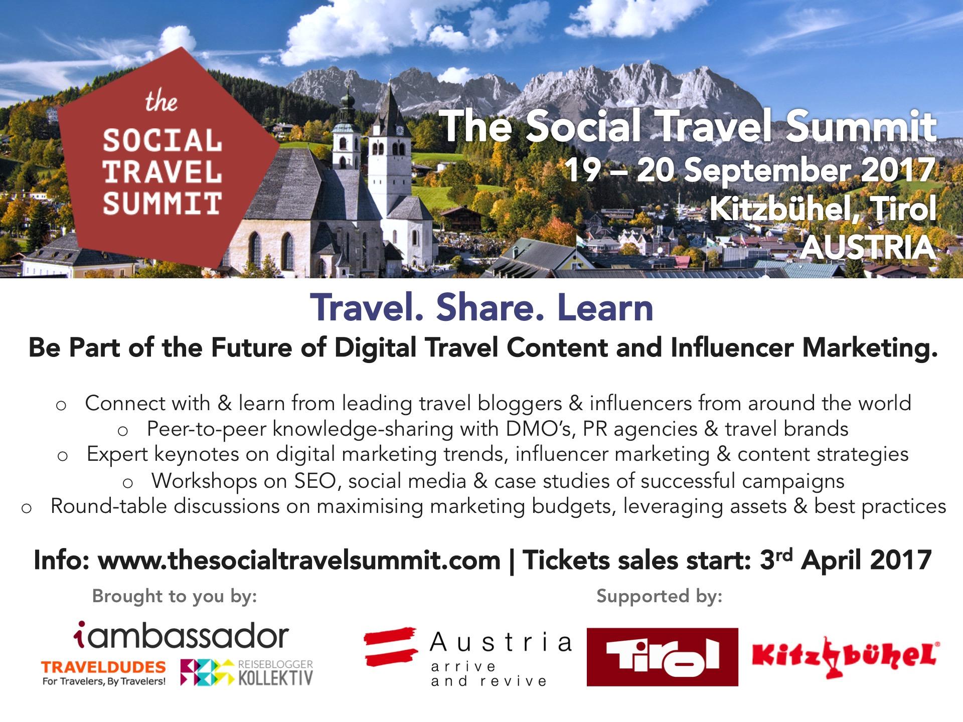 The Social Travel Summit 2017 Goes To Kitzbühel Austria The