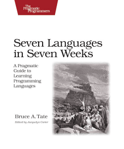 Seven Languages in Seven Weeks Book Cover