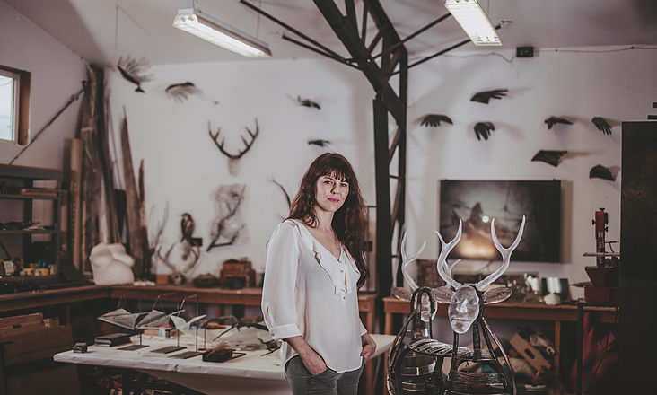 Jen Fuller, in Her Workshop