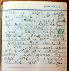 Credit: author, age 8 years & one day
