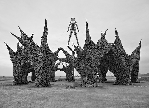 Burning Man in Black and White 2009
