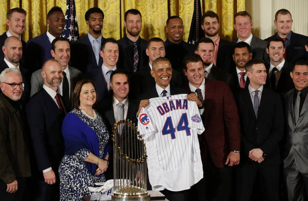Chicago Cubs visit the White House