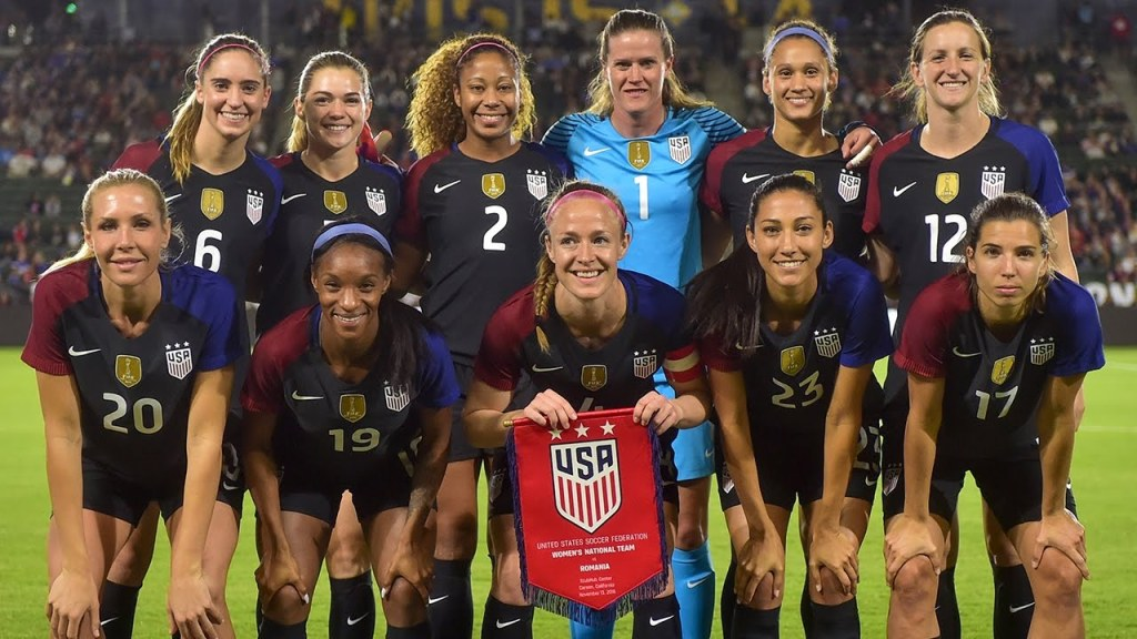 Team USA's starting 11 before a friendly match against Romania, November 2016