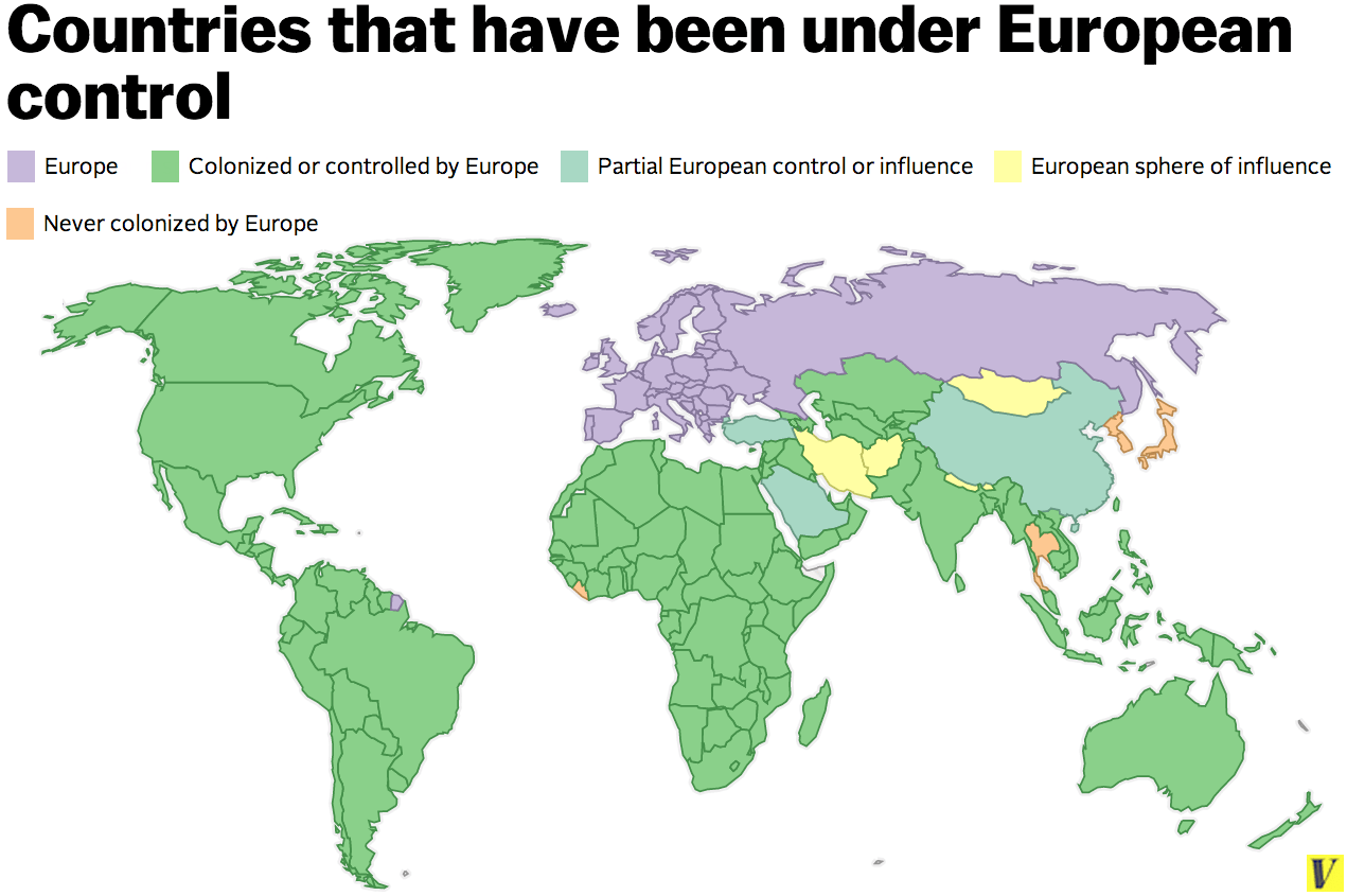 Chart Of The Week The Breadth Of European Colonization